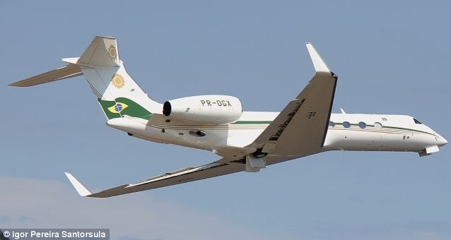 A Gulfstream V private jet like this one is Holder's aircraft of choice, ferrying him on about 200 trips during President Obama's first term