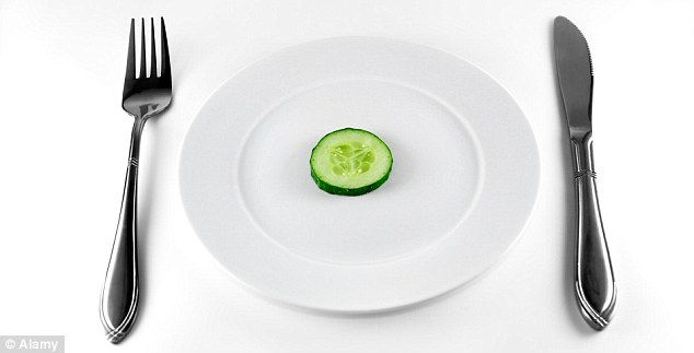 The diet involved eating just 800 calories a day compared to a man's recommended intake is 2,500