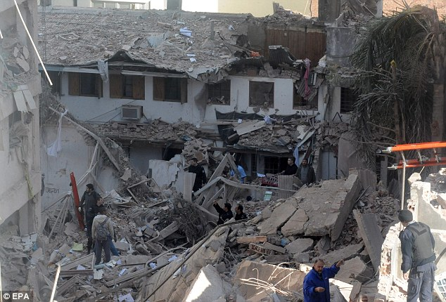 Buildings were damaged for several blocks surrounding the blast, which sent bricks and glass and cement crashing onto the street