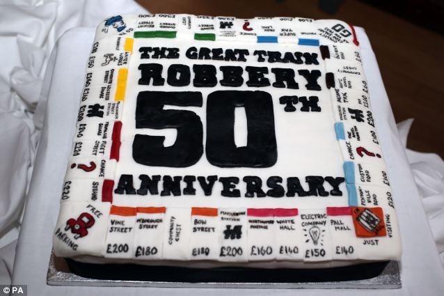Anniversary: A cake made to mark the 50th anniversary of the Great Train Robbery