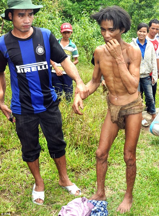Found: Ho Van Lang, 52, was found in 2013 after living in the jungle of Vietnam since he was two years old
