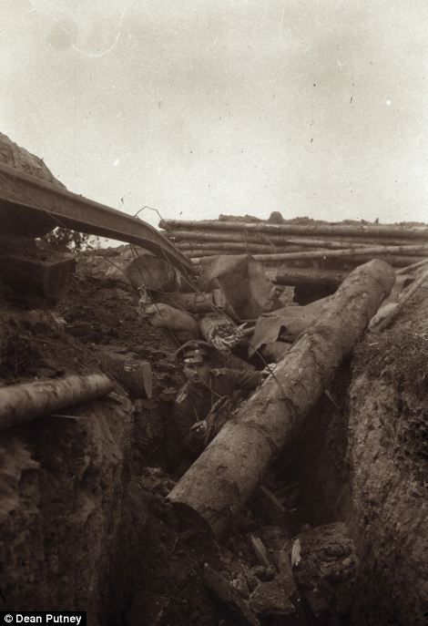 The unique set of images provide a glimpse into what life in the trenches was like for a German officer