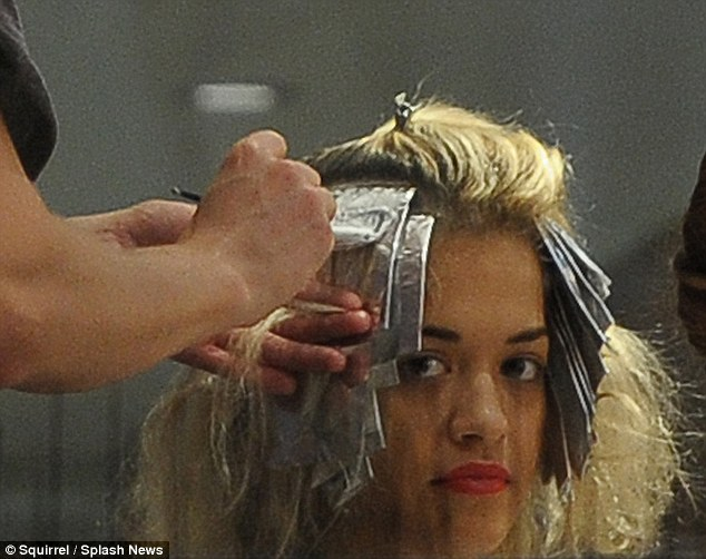 Rita Ora Spends Four Hours With Foils In Her Hair Getting