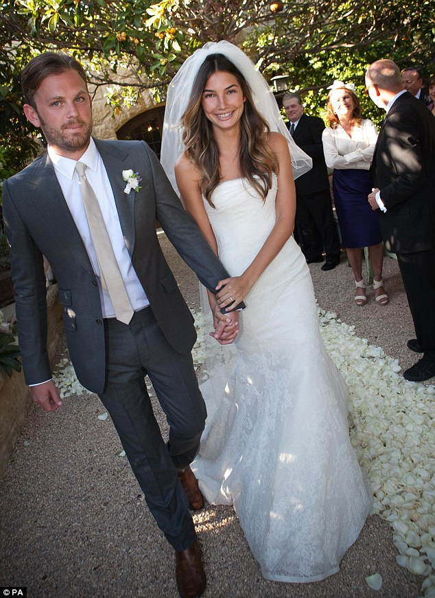 Wedding day:The former Victoria's Secret model met the Kings of Leon frontman in 2007 and they tied the knot in 2011