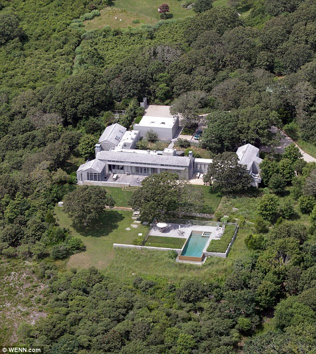 Lush: Chilmark House is set on the coast and comes with an infinity pool and tennis courts