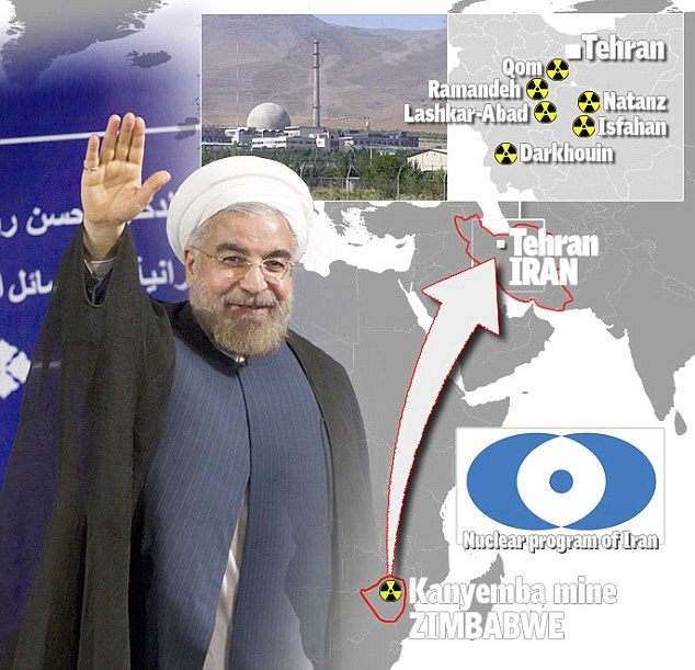 The deal would see thousands of tonnes of raw uranium shipped to Tehran for enrichment in a flagrant breech of international sanctions. Iranian president Hasan Rouhani has refused to consider halting the country's nuclear programme
