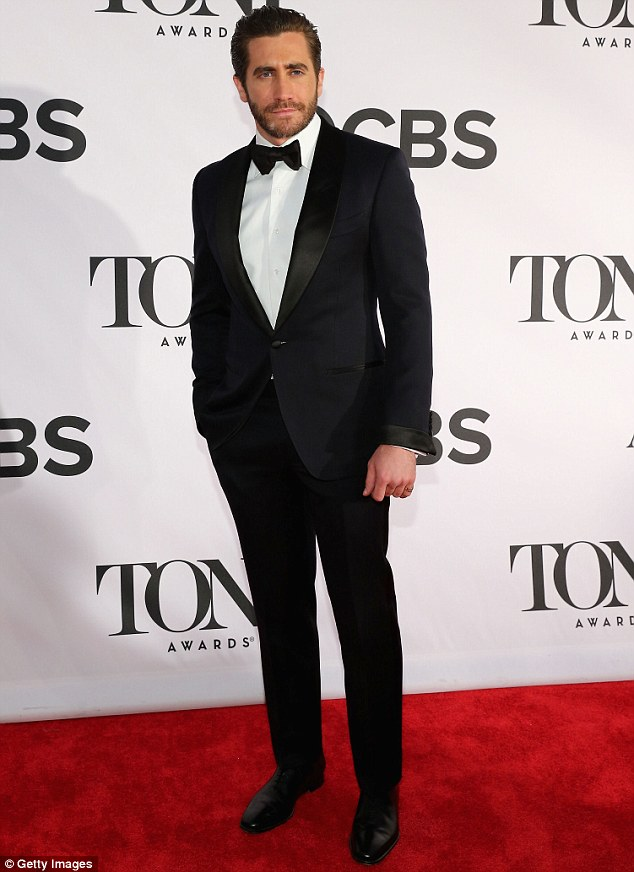 Dashing: Taylor is said to dated older man Jake Gyllenhaal, who was pictured looking debonair at the Tony Awards in New York in June