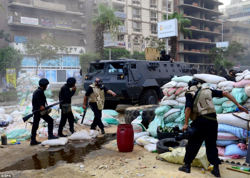 Muslim Brotherhood leaders warned today of further protests after the camps were forcibly disbanded by security forces