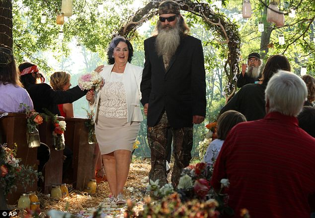 Nuptials: The record setting premier featured Kay and Phil Robertson renewing their vows after 48 years