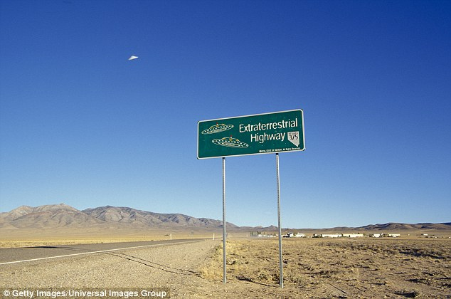 Conspiracy: UFO junkies believe the government is hiding a crashed alien spacecraft at Area 51