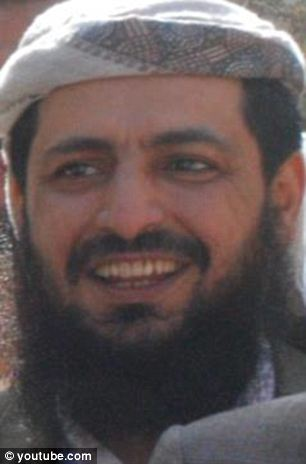 Target: Adnan al-Qadhi (pictured) was on the U.S. 'kill list' and Kulyabi's superiors in the Yemeni Republican Guard- which supports American forces- arranged to have Barq place tracking devices on Qadhi