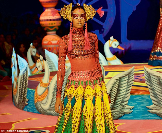 Manish Arora delivered an avant garde Indian wedding collection for the bride with an attitude