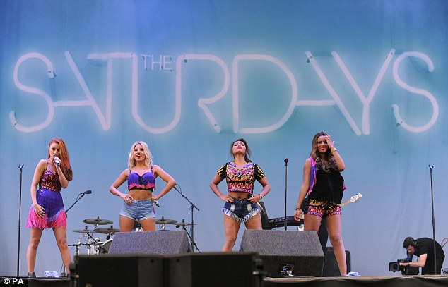 Una Healy, Mollie King, Vanessa White and Rochelle Humes perform without the heavily pregnant Frankie Sandford
