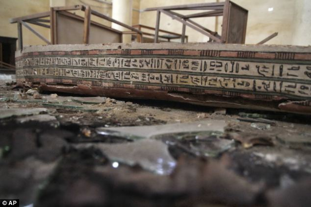 Stolen: Some artifacts were damaged and stolen, according to a statement made by the Ministry of Antiquities