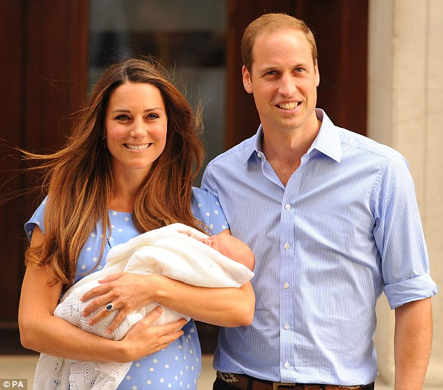 Magic moment: A month ago the Duke and Duchess of Cambridge left the Lindo Wing of St Mary's Hospital in London, and the world got to see their newborn son and future king