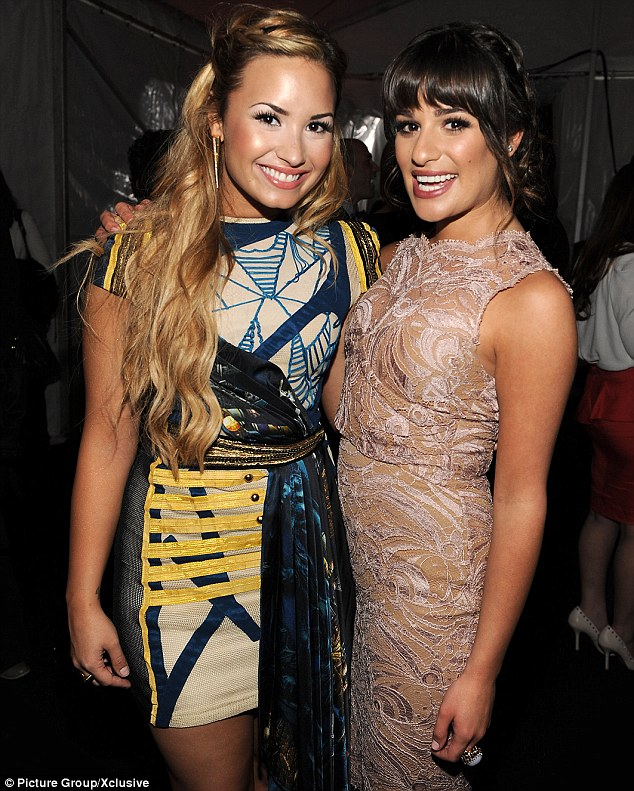 Teaming up: Demi Lovato, seen here with Glee star Lea Michele, is reportedly set to have a guest role on the musical series