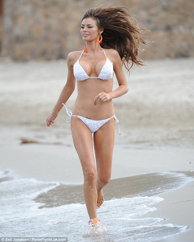 Super toned: Chloe was looking toned and tanned as she hit the beach