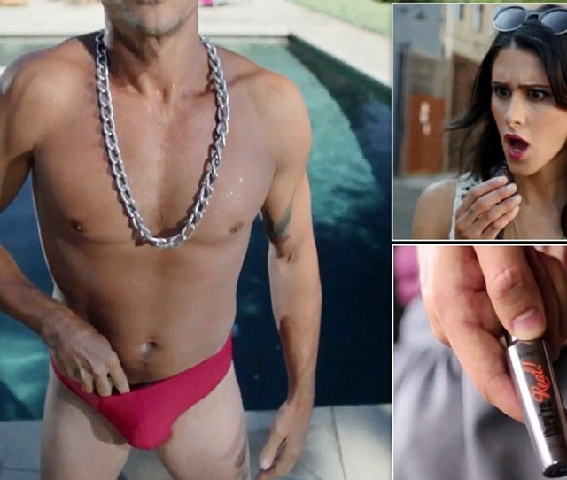 Hilarious Benefit Cosmetics Ad Ad Shows Women Ogling Mens Bulges Stuffed With Mascara Daily Mail Online
