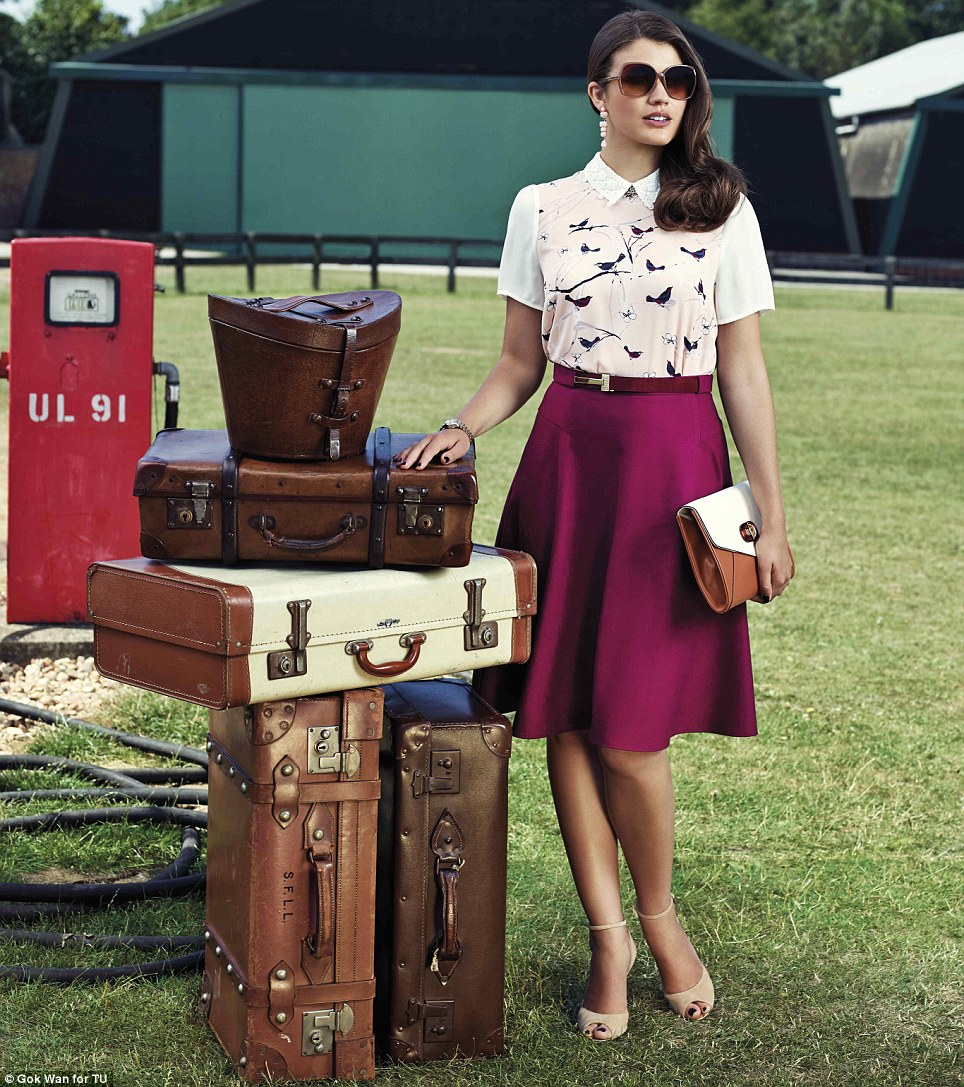 Effortless elegance: Gok's personal favourite is the Circle Skirt in rich berry with jacquard texture and full flared shape