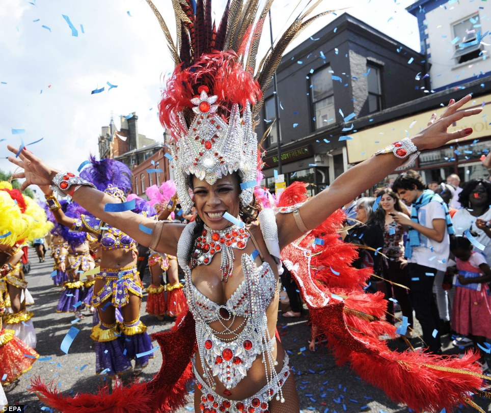 Welcome to Carnival: The giant street party does not only attract Londoners but saw thousands travel from across the country to rake part in the festivities