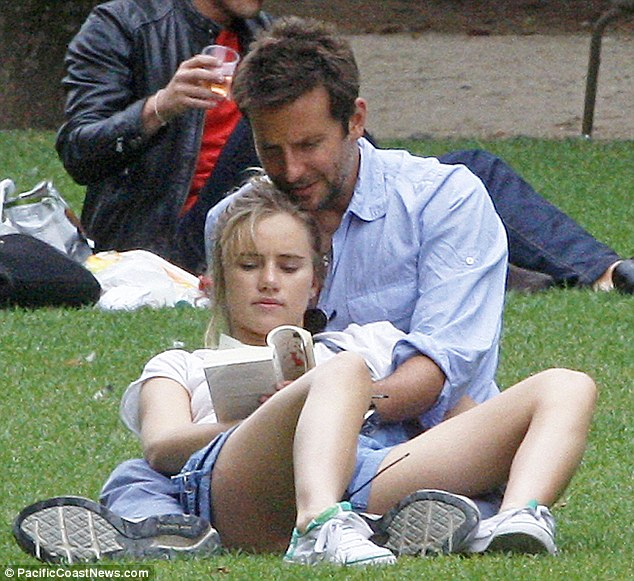 Joining in: The model decided to read the book along with her boyfriend after a while