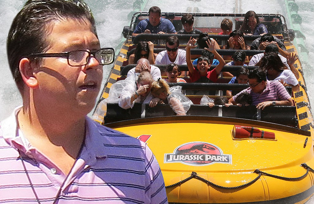 Michael McIntyre Is Drenched After Ride At Universal