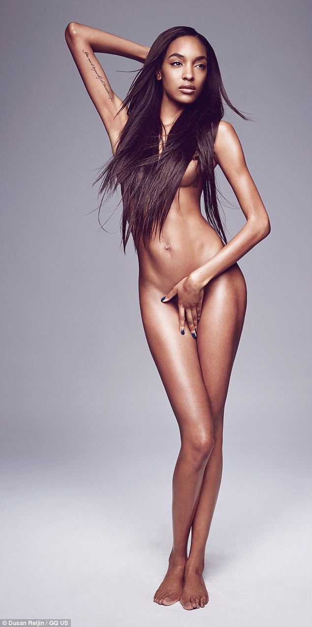 Stunning: British supermodel Jourdan Dunn wows with her latest naked shoot in GQ magazine