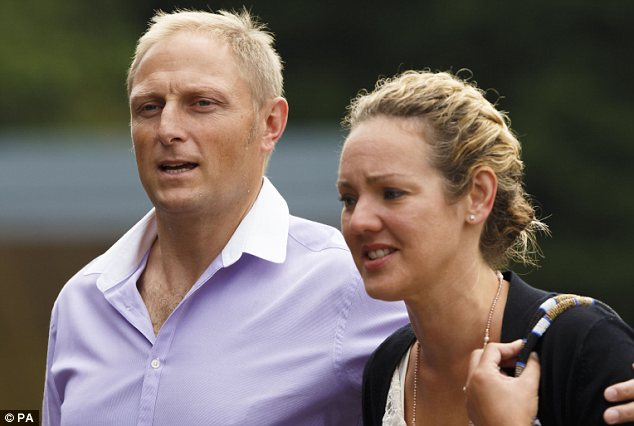 Revelation: The new claim emerged in connection with the trial of Danny Nightingale, pictured with his wife