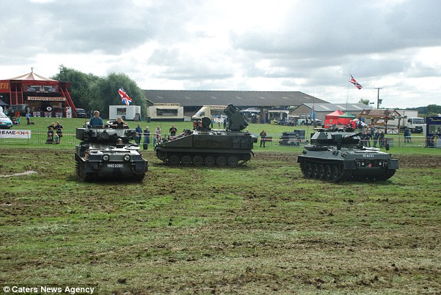 Mr Baker and his wife have been collecting tanks for more than 20 years which often go on display at shows