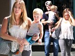 Stop stealing my style, Mommy! Hilary Duff coordinates her outfit with son Luca AGAIN on family trip to baby fitness class