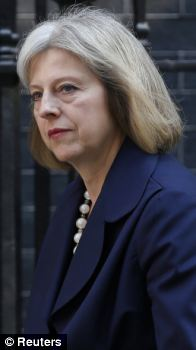 Home Secretary Theresa May arrives for a cabinet meeting at Number 10