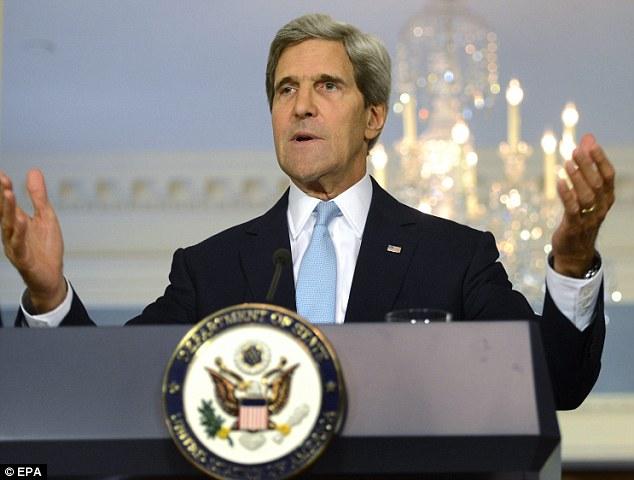French kiss: U.S. Secretary of State John Kerry lavished praise on France