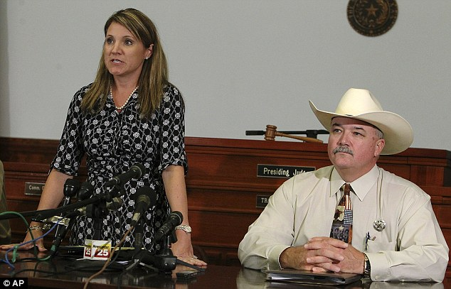 No Charges: 25th Judicial District Attorney Heather McMinn, left, and Lavaca County Sheriff Mica Harmon appear at a news conference in Halletsville, Texas on Tuesday, June 19, 2012 in the aftermath of the killing