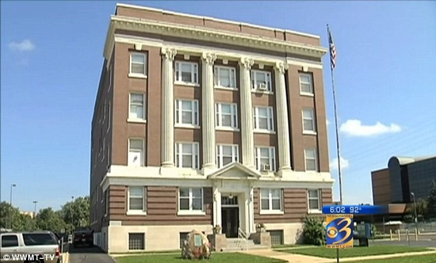Shocking: Police sources told WWMT-TV that officers found two people having sex and naked women dancing on stage at the Masonic Lodge