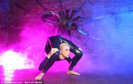 Star attraction: She will perform at the International Contortion Convention in Germany
