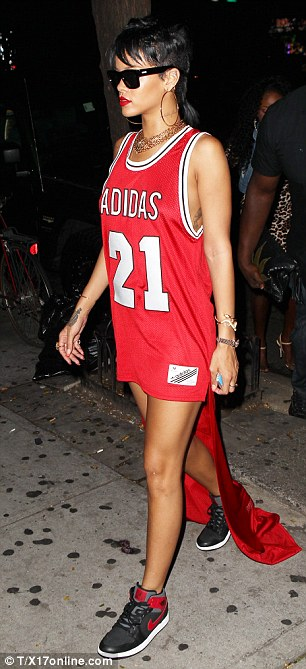 Things to do: Rihanna leaves her New York hotel on Park Avenue for dinner on Monday evening