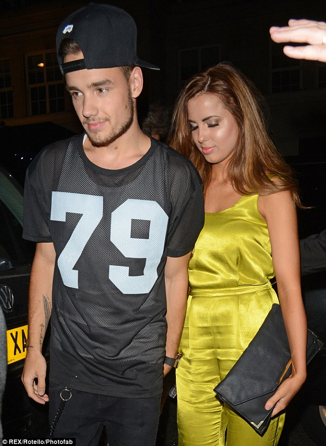 At home: Liam has been back in London this week celebrating his 20th birthday with his new girlfriend Sophia Smith