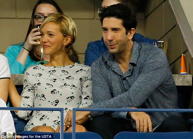 He's got a friend: David Schwimmer and wife Zoe Buckman also attended the Serena Williams match