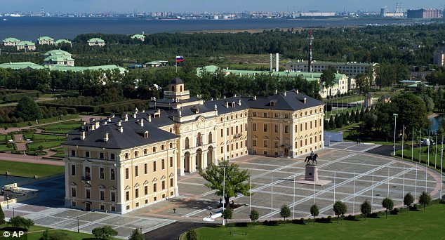 Summit: World leader will soon be meeting at the Constantine Palace in St Petersburg, pictured