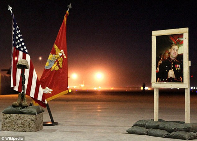 Remembered: Sergeant Atwell Memorial at Camp Bastion ercted in the aftermath of his heroic actions during the battle that raged on September 14th, 2012