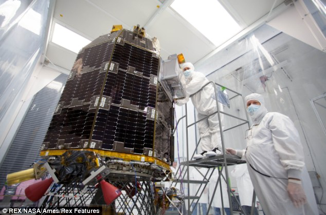 Lads and LADEE: Engineers at NASA's Ames Research Center prepare LADEE ahead of its journey to analyse the possible 'moon dust' mystery from 40 years ago