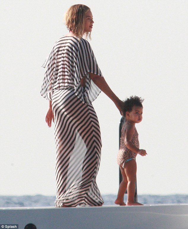 blue ivy swimsuit on beyonce birthday