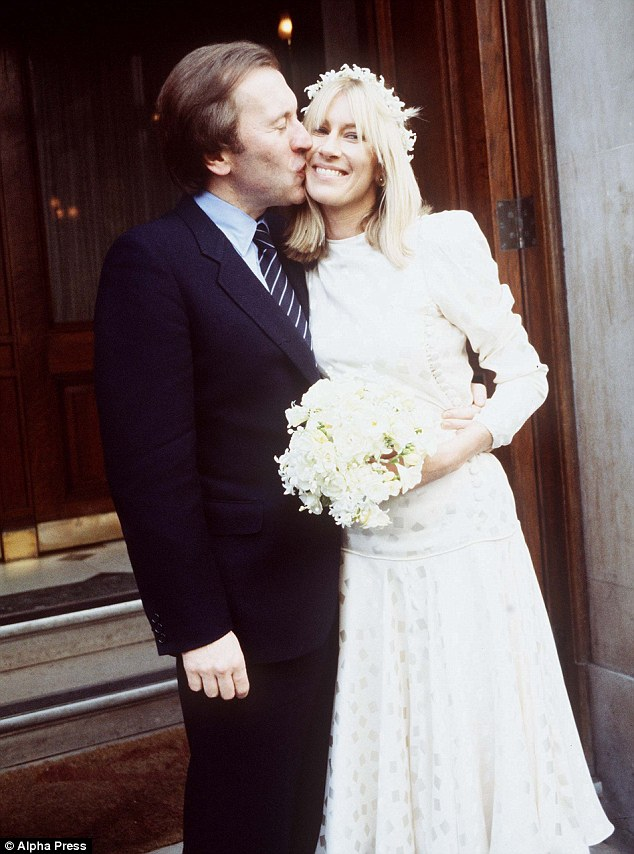 True love at last: Lady Carina Fitzalan-Howard with Frost on their wedding day. A 1983 marriage which lasted until his death