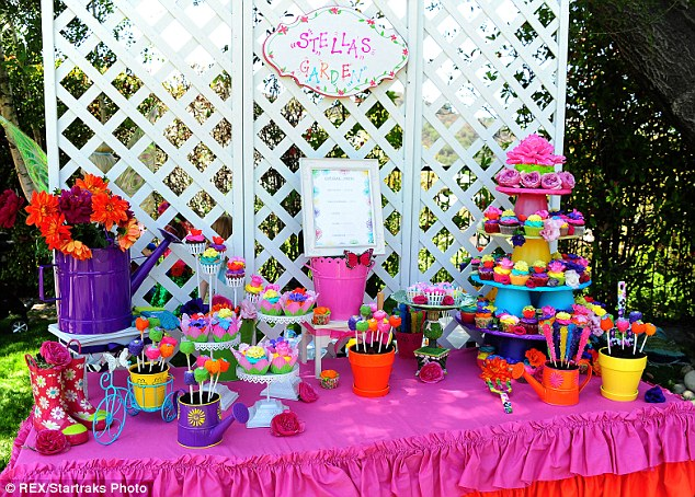 Take your pick: Tori arranged an incredible dessert table for people to choose from at the bash