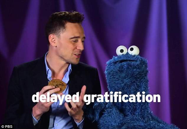 Bildresultat för delayed gratification cookie monster