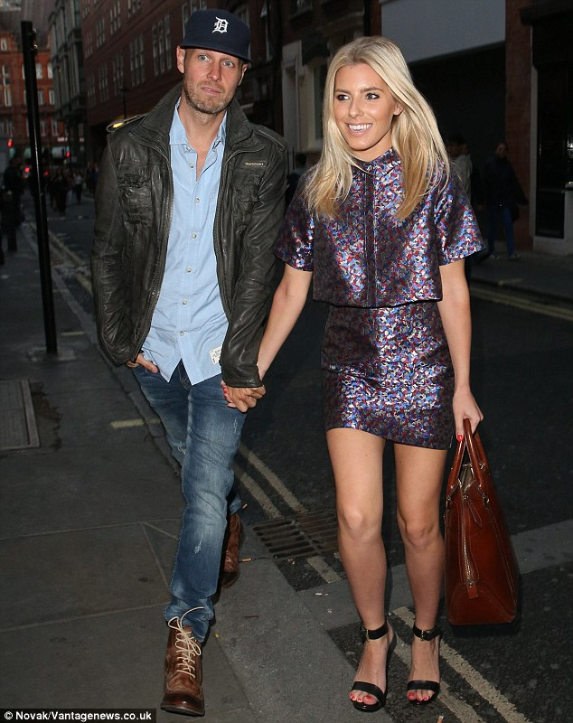 Long-distance lovers: Mollie King and her boyfriend Jordan Omley certainly seemed to be making the most of some precious time together as they stepped out on a romantic date night on Friday evening