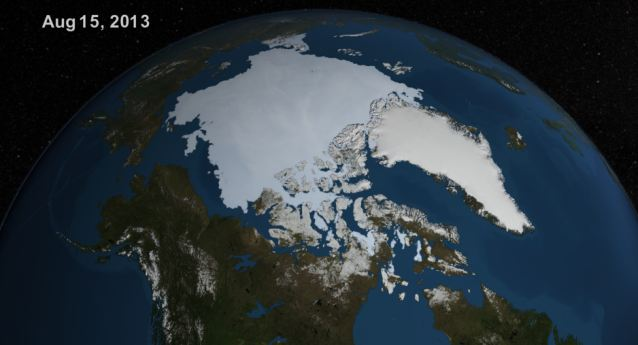 ...And now, much bigger: The spread of Artic sea ice on August 15 2013