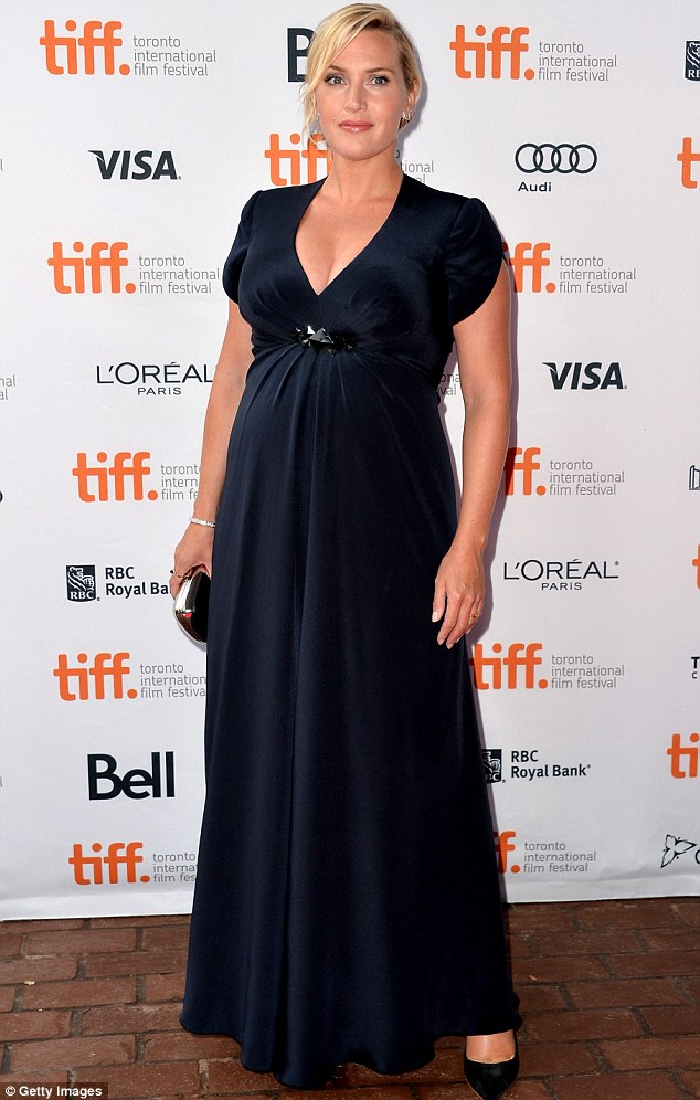 Baby bump: Kate Winslet shows off her pregnancy curves at the Toronto International Film Festival screening of Labor Day