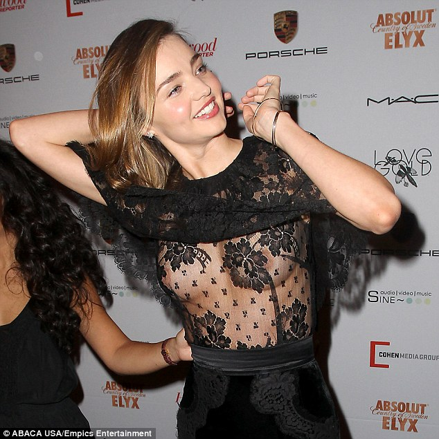 Opps! On Friday it was a different story with the Victoria's secret star's decision to go bra-less underneath the sheer Dolce & Gabbana dress backfired at the Mademoiselle C film premiere