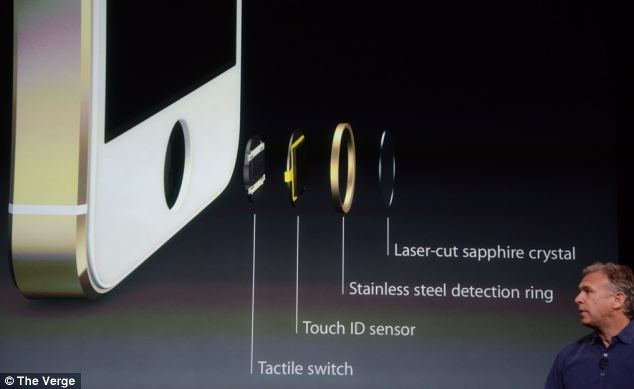 The phone features a Touch ID Sensor that scans a user's finger print
